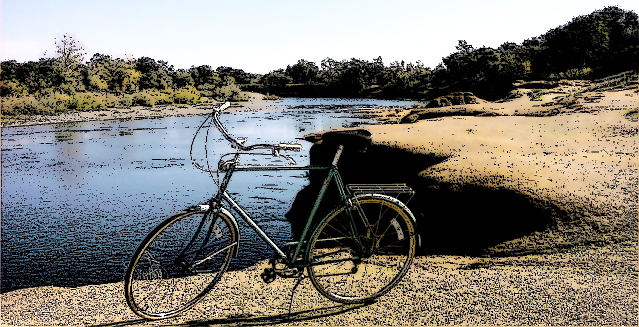 Bicycle Near the River
